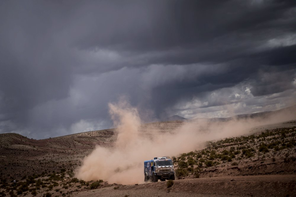 yrat Mardeev (RUS) of Team KAMAZ Master races during stage 07 of Rally Dakar 2016 from Uyuni, Bolivia to Salta, Argentina on January 9, 2016 Photographer Credit Marcelo Maragni/Red Bull Content Pool