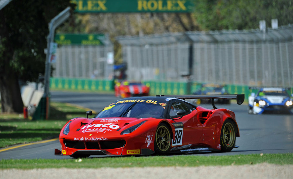 a look at the ferrari 488 gt3 on debut in the australian gt. Black Bedroom Furniture Sets. Home Design Ideas