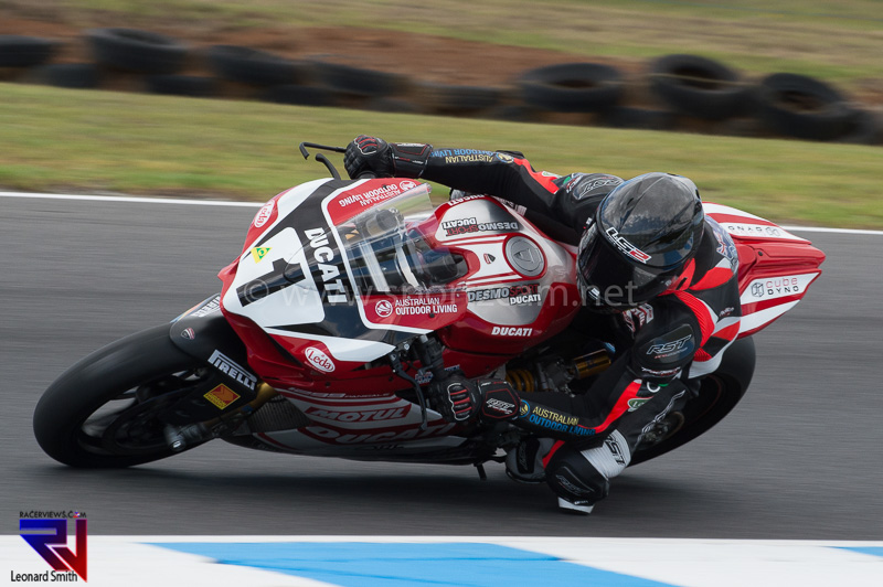 Mike Jones aboard his 2016 Ducati in the Australian Superbike Championship