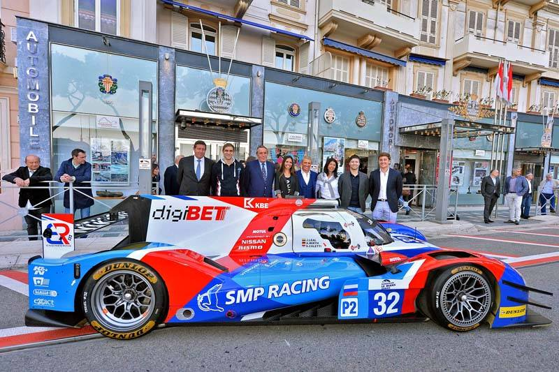 Andreas Wirth with his 2016 ride and teammates at the launch in Monaco