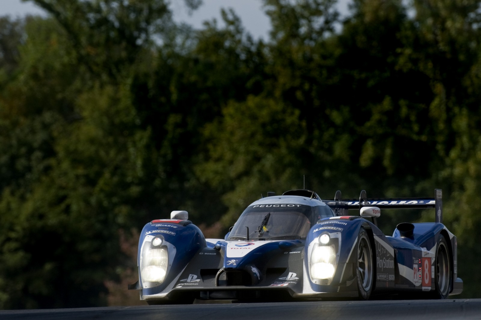 Stephane Sarrazin's time with Peugeot saw him take two Le Mans Series titles Photo: Peugeot Media