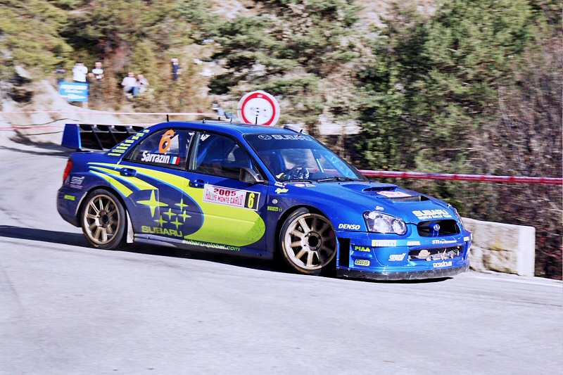 Stephane Sarrazin enjoyed a couple of seasons with Subaru prior to their withdrawal from the WRC. He won the French Championship with them in 2005 (Photo: Ericd via Wikipedia)
